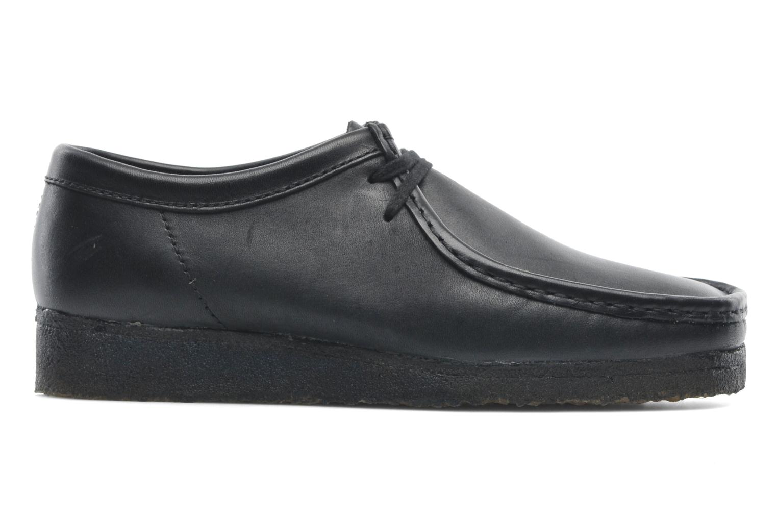Lace-up shoes Clarks Originals Wallabee M Black back view